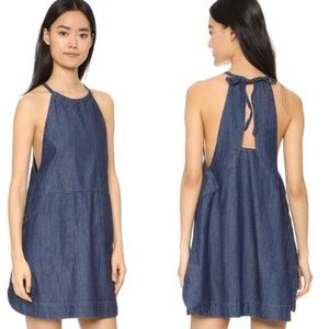 Free People Halter Denim Dress